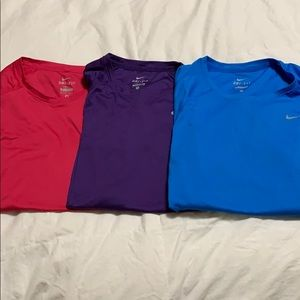 3 Nike dri-fit workout shirts